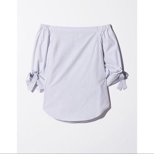 Aritzia Babaton Off-the-Shoulder Blouse